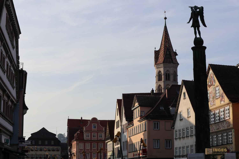 Marktplatz und Johanniskirche in Schwäbisch Gmünd
