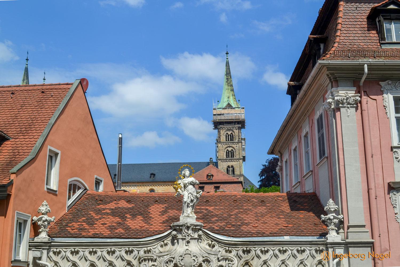 Bamberg Blick auf den Dom