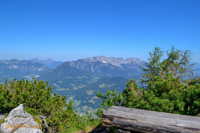 Kehlsteinhaus, Blick auf den Untersberg