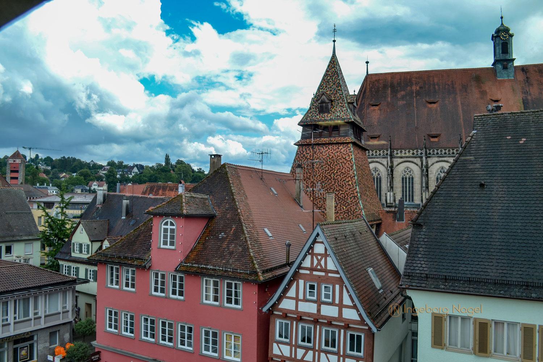 Blick auf Glockenturm Schwäbisch Gmünd
