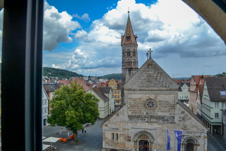 Blick auf Johanniskirche Schwäbisch Gmünd