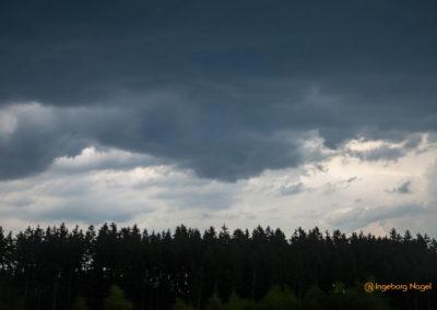 Gewitterwolken Rückfahrt Berchtesgadener Land