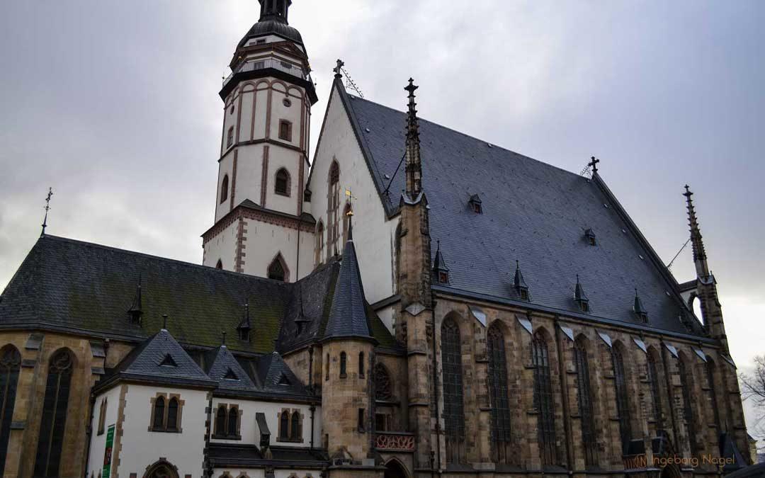 Die Thomaskirche in Leipzig und Johann Sebastian Bach
