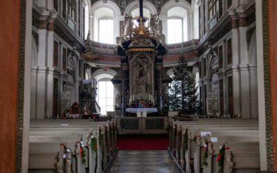 Die Schlosskirche von Schloss Neu-Augustusburg in Weißenfels
