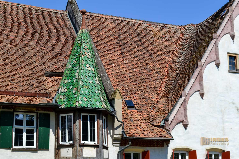 Ein Erkertürmchen am Kloster in Blaubeuren.