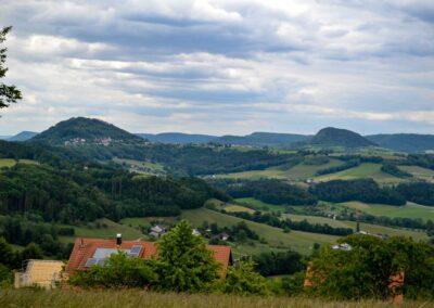 Blick vom Hohenstaufen zum Rechberg und Stuifen