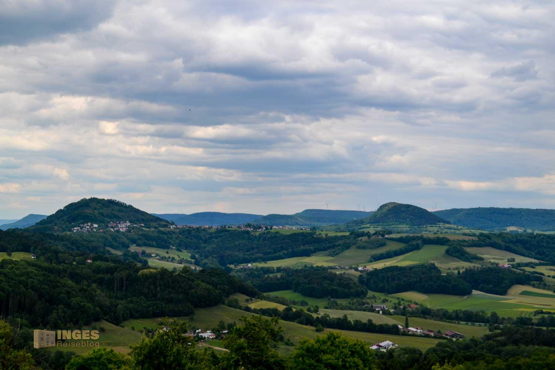 Blick vom Hohenstaufen auf den Hornberg, Rechberg und Stuifen
