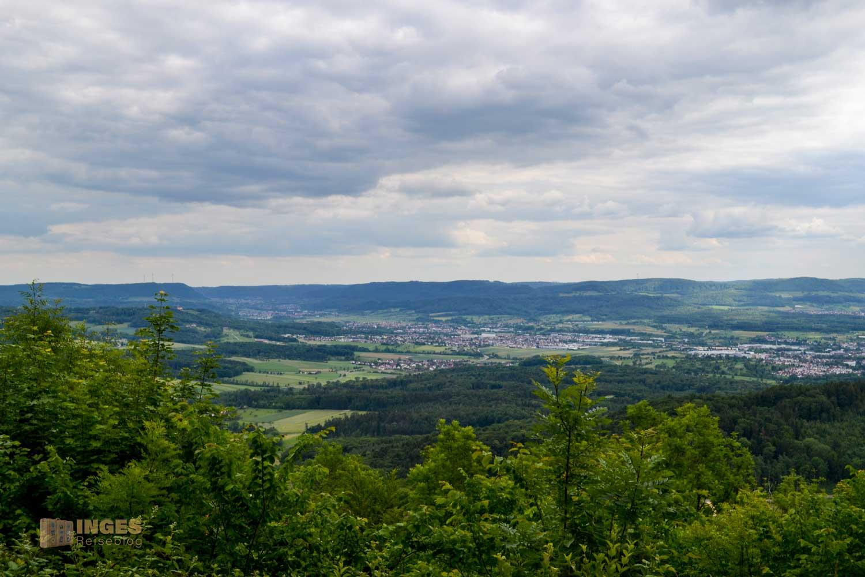 Ausblicke von der Burg Hohenstaufen