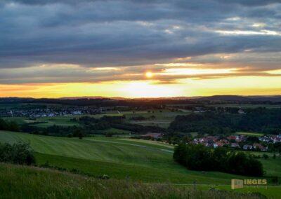 Sonnenuntergang beim Hohenstaufen