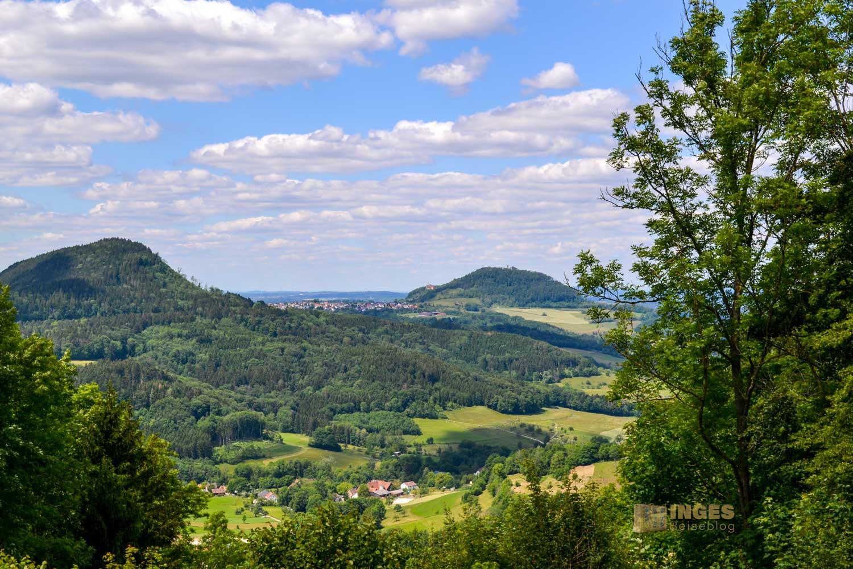 Blick vom Hornberg auf den Stuifen und Rechberg