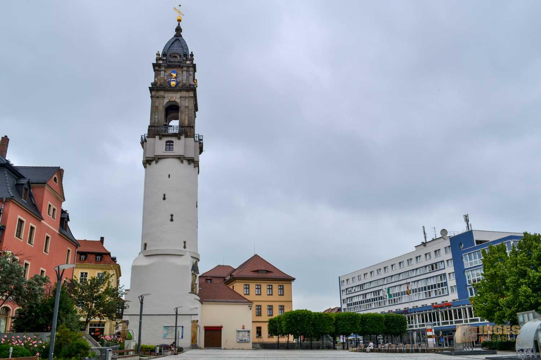 Reichenturm und Kornmarkt in Bautzen