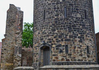 Mönchskirchruine und Wasserturm in Bautzen