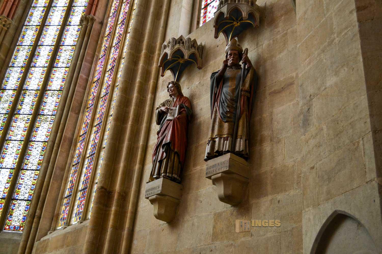 Die beiden Namenspatrone des Meißner Doms, Evangelist Johannes und Bischof Donatus