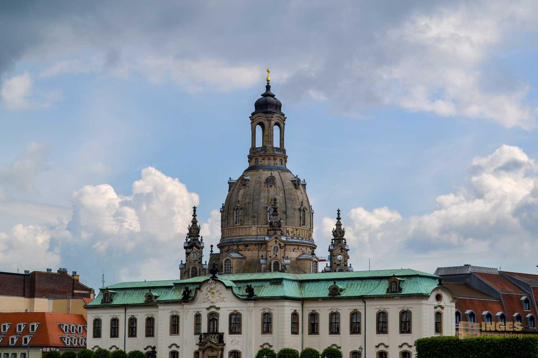 Ein Blick auf die Dresdner Frauenkirche
