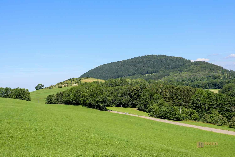 Blick vom Reiterleskapelle Waldstetten-Stuifen