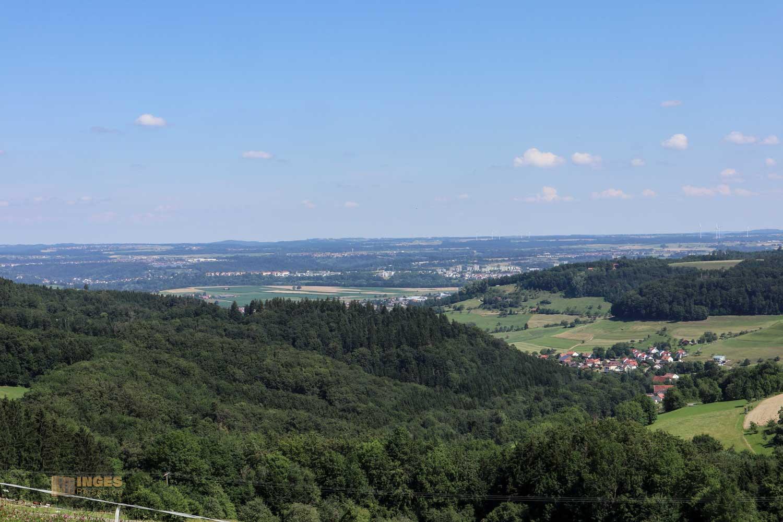 Blick vom Reiterleskapelle Waldstetten