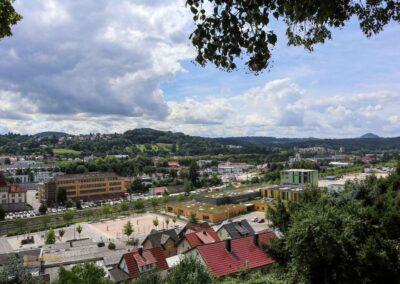 Blick von St. Salvator auf den Hohenstaufen, Rechberg und Stuifen