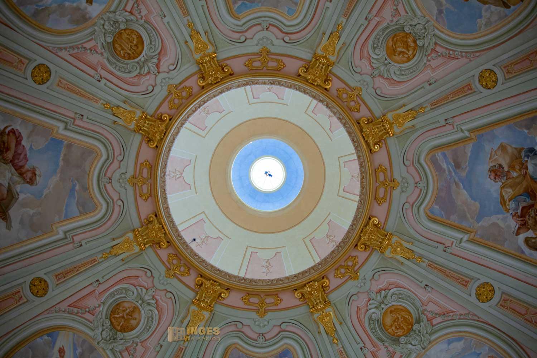 Die Innenkuppel der Frauenkirche in Dresden