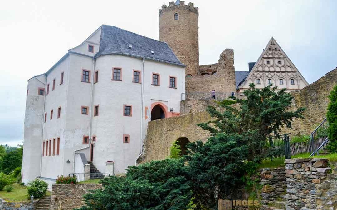 Auf der Burg Scharfenstein im Erzgebirge
