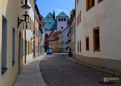 Blick zum Dom Silberstadt Freiberg