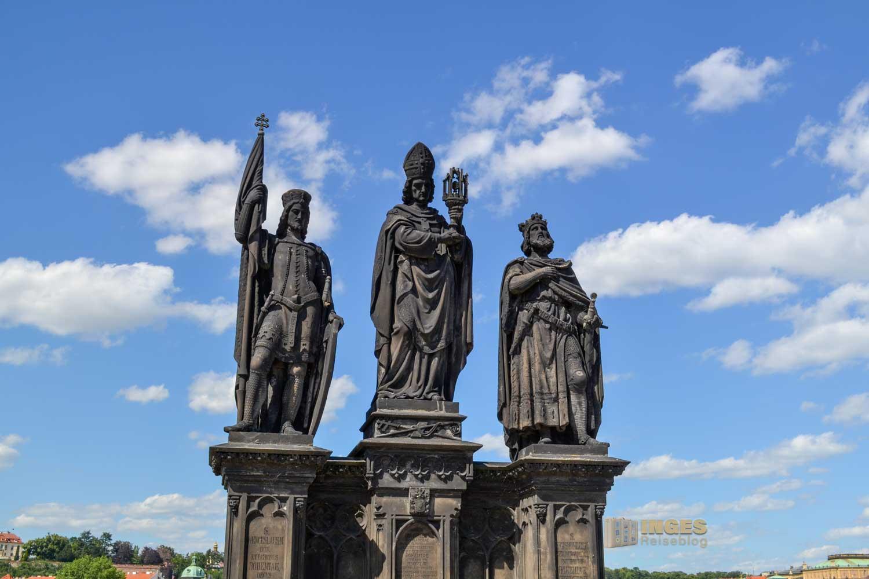 Die heiligen Wenzel, Norbert und Sigismund auf der Karlsbrücke