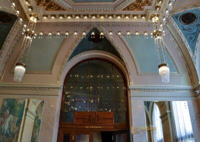 Der Palacký-Saal im Gemeindehaus in Prag