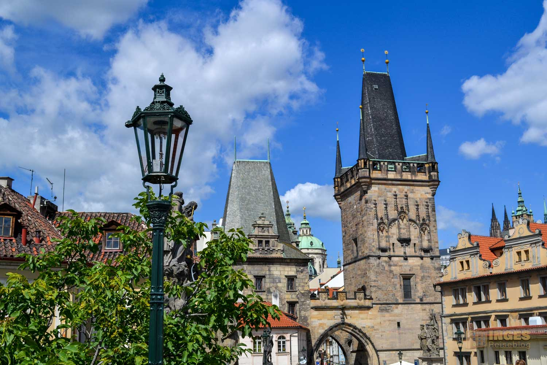 Kleinseitner Brückentürme auf der Karlsbrücke in Prag