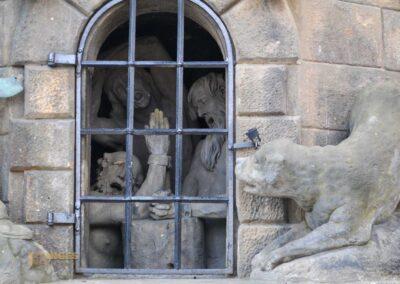 Die Heiligen Johannes v. Matha, Felix v. Valois und Iwan auf der Karlsbrücke