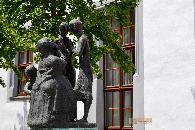 Tratschweiberbrunnen Silberstadt Freiberg