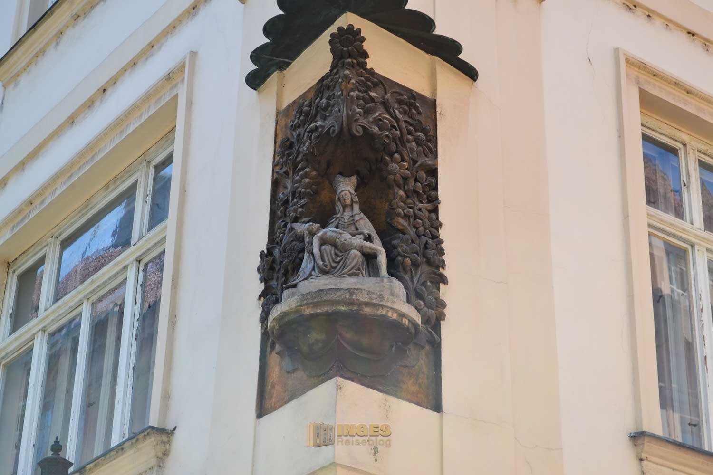 Auf dem Weg zur St. Ägidius Kirche (Kostel sv. Jiljí) in der Prager Altstadt