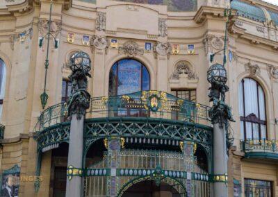 Gemeinde- oder Repräsentationshaus (Obecní dům) in der Prager Altstadt