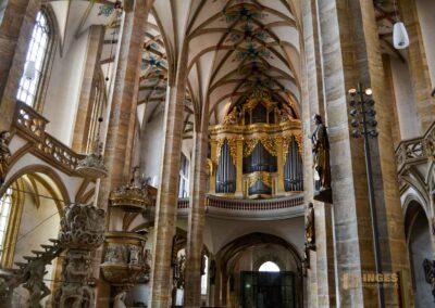 Große Silbermannorgel und Kanzeln Dom St. Marien zu Freiberg