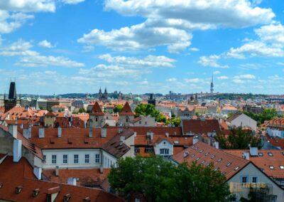 Ausblicke vom Vrtba-Garten (Vrtbovská zahrada) auf der Prager Kleinseite