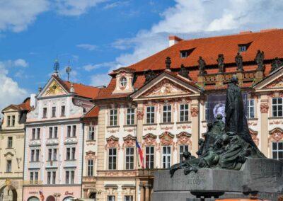 Jan-Hus-Denkmal auf dem Altstädter Ring in Prag