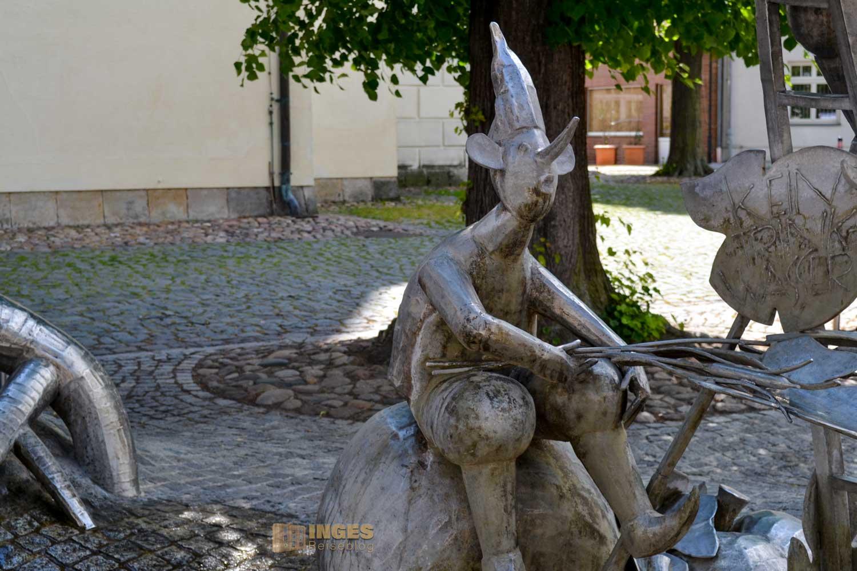 Sagenbrunnen in Lübbenau im Spreewald