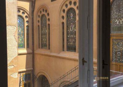 Blick zur Jerusalem Synagoge