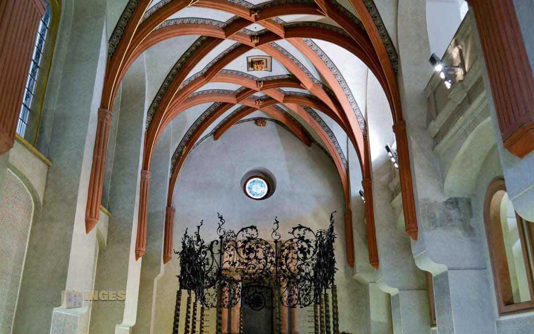 Die Pinkas-Synagoge im Jüdischen Viertel in Prag