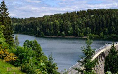 An der Talsperre Saidenbach im Erzgebirge