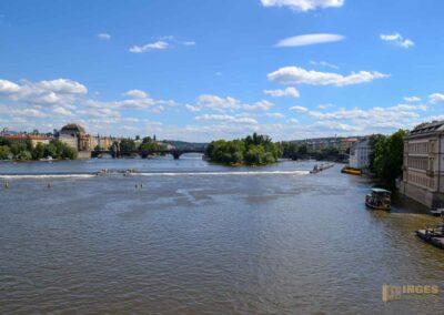 Moldau und die Prager Kleinseite (Malá Strana)