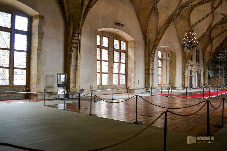 Vladislav Saal im Alten Königspalast auf der Prager Burg