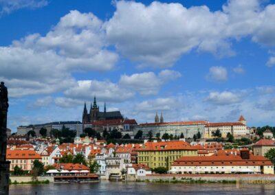 Prager Kleinseite (Malá Strana) mit der Prager Burg