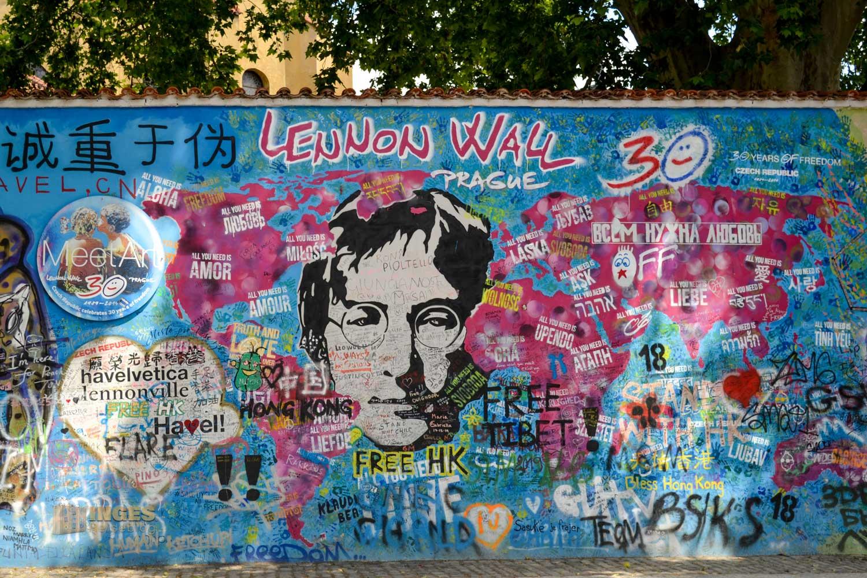 John Lennon Mauer auf der Prager Kleinseite