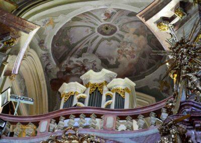 Orgel in der St.-Nikolaus-Kirche auf der Prager Kleinseite
