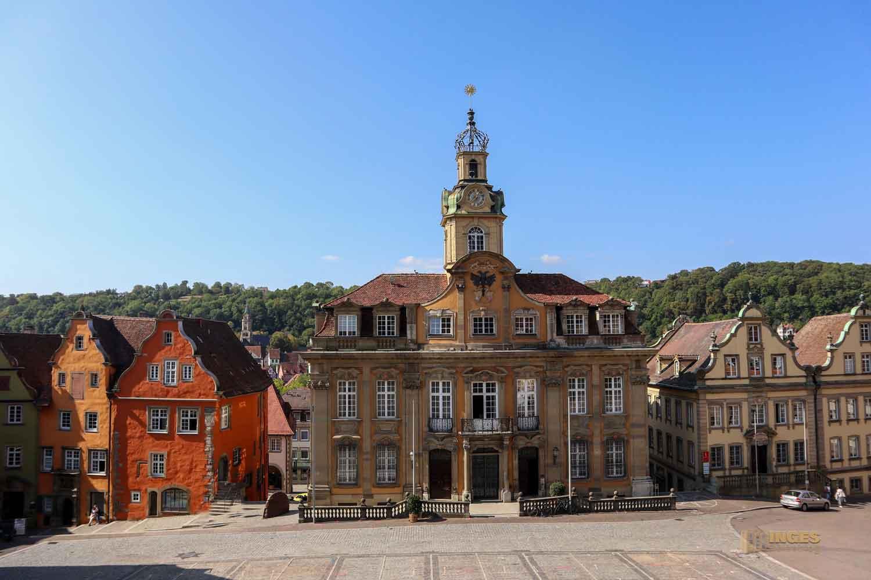 Rathaus und Marktplatz Schwäbisch Hall