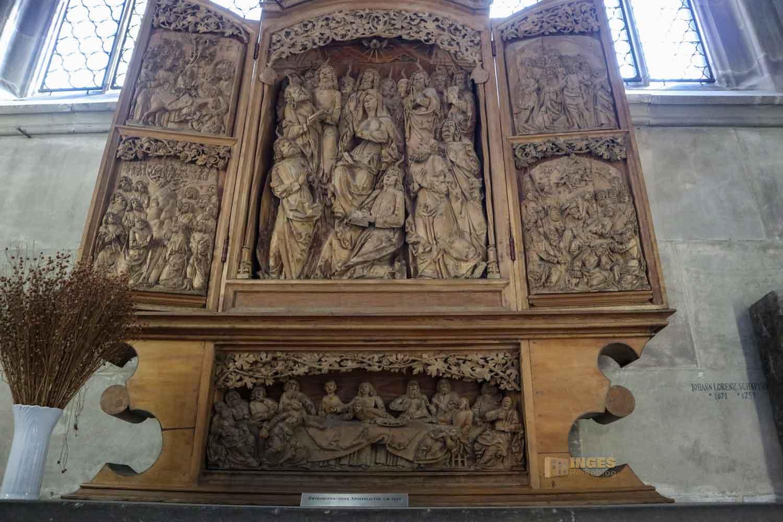 Seitenaltar in der Kirche St. Michael in Schwäbisch Hall