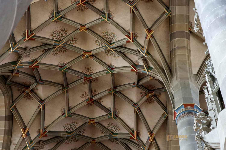 Deckengewölbe in der Kirche St. Michael in Schwäbisch Hall