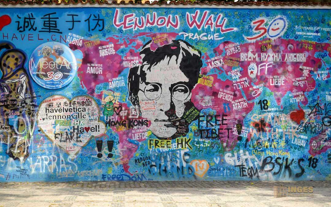 Die John Lennon Mauer auf der Prager Kleinseite