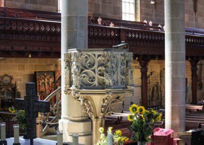 Kanzel in der Kirche St. Michael in Schwäbisch Hall