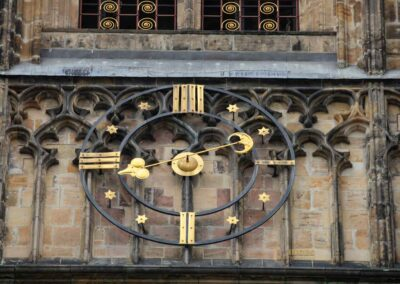 Uhr am Südturm Veitsdom in Prag