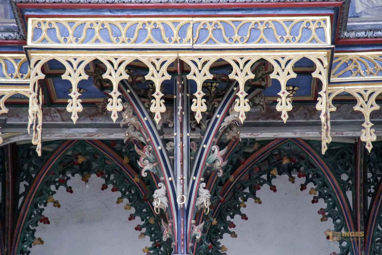 Barocke Schwalbennestorgel in St. Georg in Nördlingen